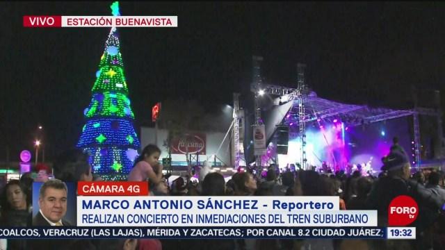 FOTO: Encendido Árbol de Navidad concierto inmediaciones Tren Suburbano