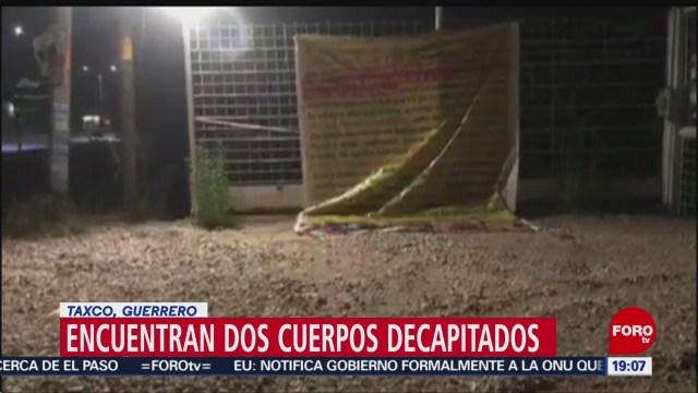 Foto: Decapitados Carretera Taxco-Cuernavaca Encuentran Cuerpos 4 Noviembre 2019