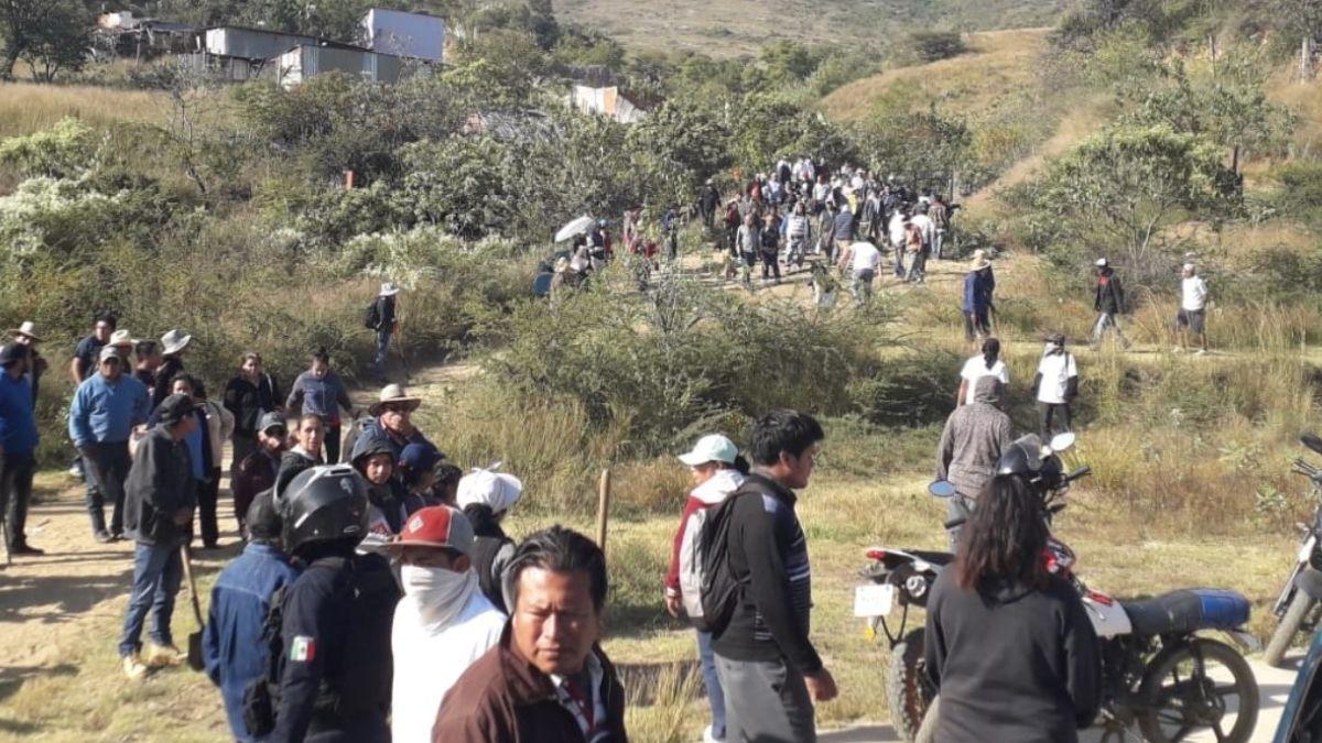 Enfrentamiento entre comuneros en Oaxaca.