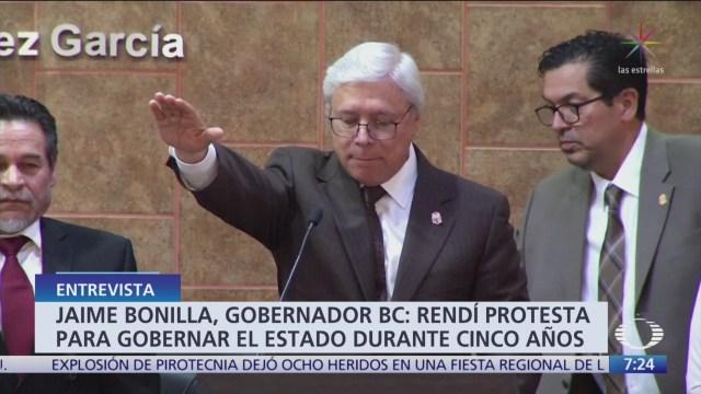FOTO: Jaime Bonilla toma protesta como gobernador de Baja California, 1 noviembre 2019