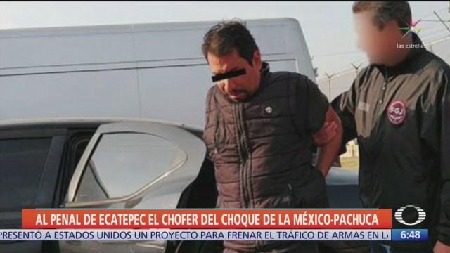 Envían al reclusorio al chofer del choque de la México-Pachuca