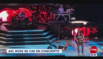 #EspectáculosenExpreso: Axel Rose se cae en concierto