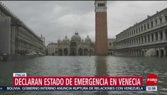 Foto: Estado emergencia Venecia por inundaciones récord