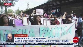 FOTO: Estudiantes FES Cuautitlán marchan hacia Rectoría