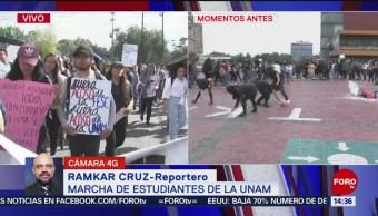 FOTO: Estudiantes FES Cuautitlán se retiran Rectoría UNAM