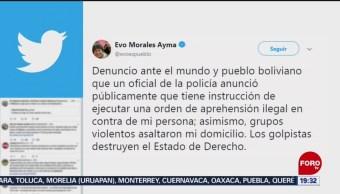 FOTO: Evo Morales asegura que corre el riesgo de ser detenido, 10 noviembre 2019