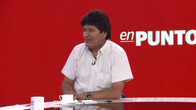 Foto: Evo Morales habló para En Punto con Denise Maerker, el 14 de noviembre de 2019. (Noticieros Televisa)