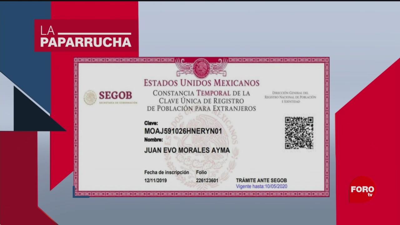 Foto: Evo Morales Recibe Presunta Ciudadanía Mexicana Noticias Falsas 28 Noviembre 2019