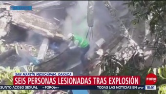 FOTO: Explosión panadería deja seis lesionados Oaxaca