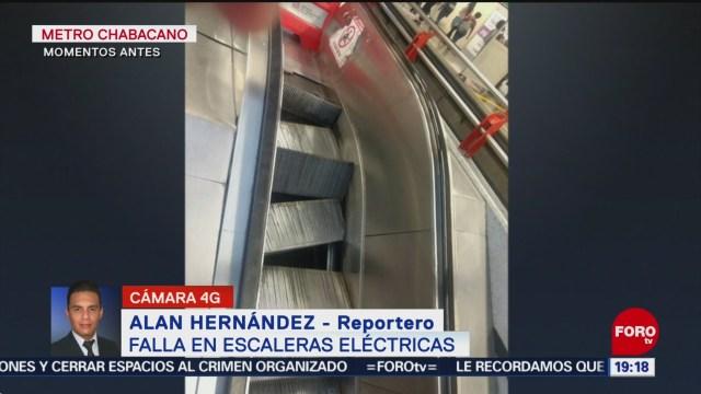 Foto: Fallan Escaleras Eléctricas Metro Chabacano 22 Noviembre 2019