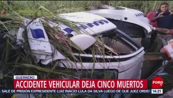 FOTO: Fallecen cinco tras accidente en Copala, Guerrero, 9 noviembre 2019