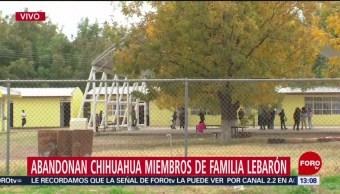 FOTO: Familiares LeBarón abandonan Chihuahua tras funerales