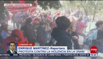 FOTO: Feministas generan disturbios marcha contra violencia UNAM