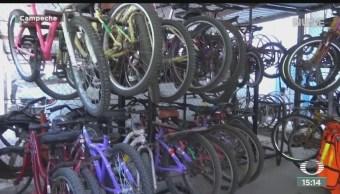 FOTO: Fomentan actividad física con bicicletas Campeche