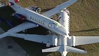 Foto: Los aviones accidentados son un Cessna-560 (arriba) y un Cessna-525B (abajo).