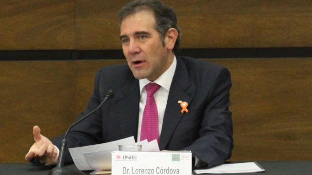 Foto: Lorenzo Córdova Vianello, consejero presidente del INE. Cuartoscuro