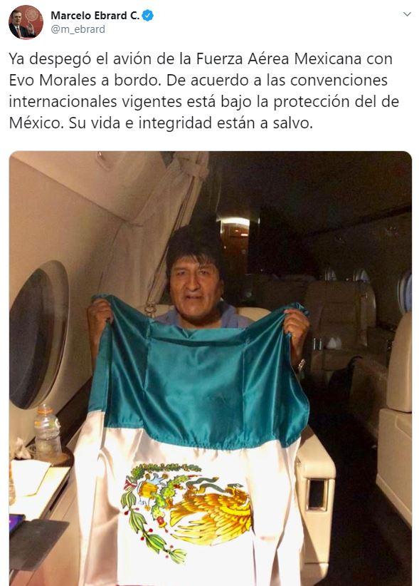FOTO Por qué México le dio asilo a Evo Morales (Twitter)