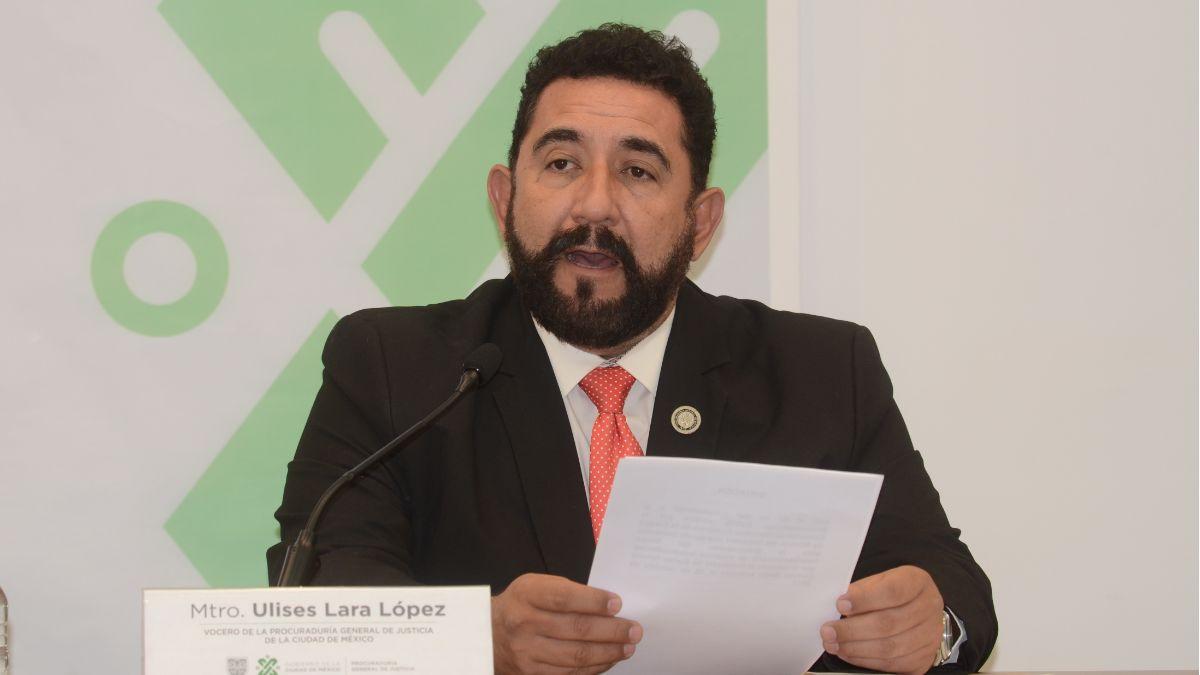 Foto: Ulises Lara, vocero de la Procuraduría General de Justicia de la Ciudad de México (PGJ-CDMX). Cuartoscuro/Archivo