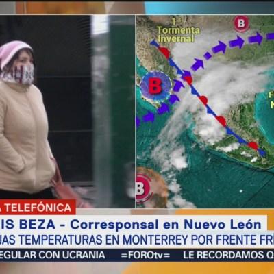 Frente frío 12 provoca ausentismo escolar en Monterrey, NL