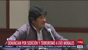 Gobierno interino de Bolivia denuncia penalmente a Morales por terrorismo