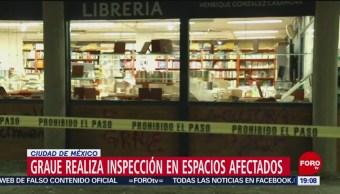 FOTO: Graue realiza inspección tras vandalismo en la UNAM, 14 noviembre 2019