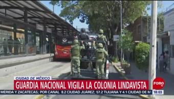 FOTO: Guardia Nacional Vigila Colonia Lindavista CDMX