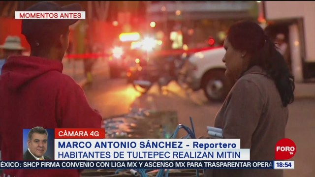 FOTO: Habitantes Tultepec protestan con pirotecnia San Lázaro
