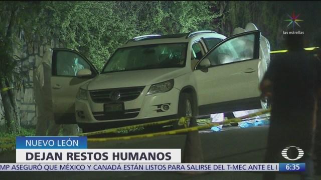 Hallan bolsas con restos humanos en Apodaca, Nuevo León