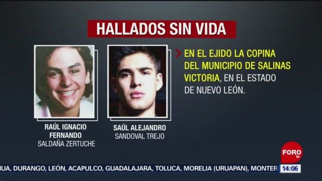 FOTO: Hallan sin vida a dos estudiantes en Nuevo León, 10 noviembre 2019