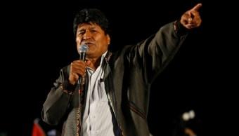 Foto: Helicóptero de Evo Morales sufre percance, 28 de octubre de 2019