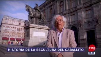 Historia de la escultura del caballito