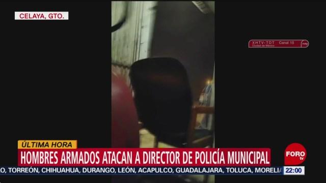 FOTO: Hombres armados atacan a director de Seguridad de Celaya, 14 noviembre 2019