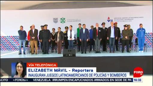 FOTO:Inauguran Juegos Latinoamericanos de Polícias y Bomberos en CDMX, 17 noviembre 2019