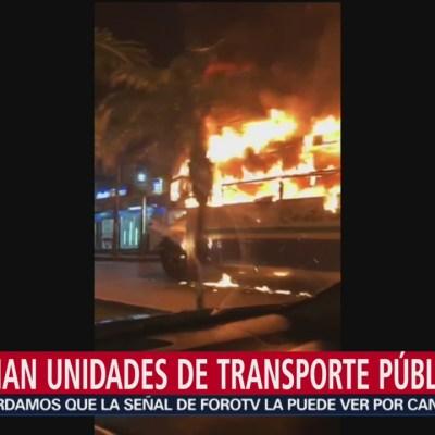 Incendian autobuses del transporte público en Acapulco
