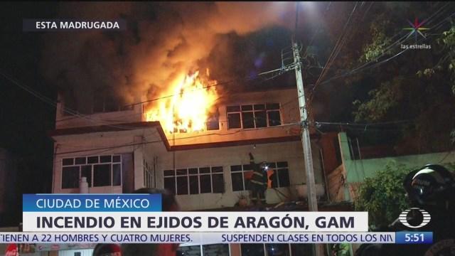 Incendio consume parte de una casa en la alcaldía Gustavo A. Madero