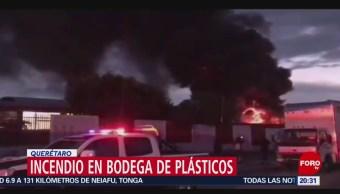 Foto: Incendio Bodega Plásticos Querétaro Hoy 4 Noviembre 2019