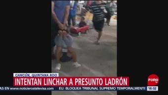 FOTO: Intentan linchar a presunto delincuente en Cancún, 18 noviembre 2019