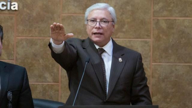 FOTO: Jaime Bonilla Valdeztoma protesta como gobernador