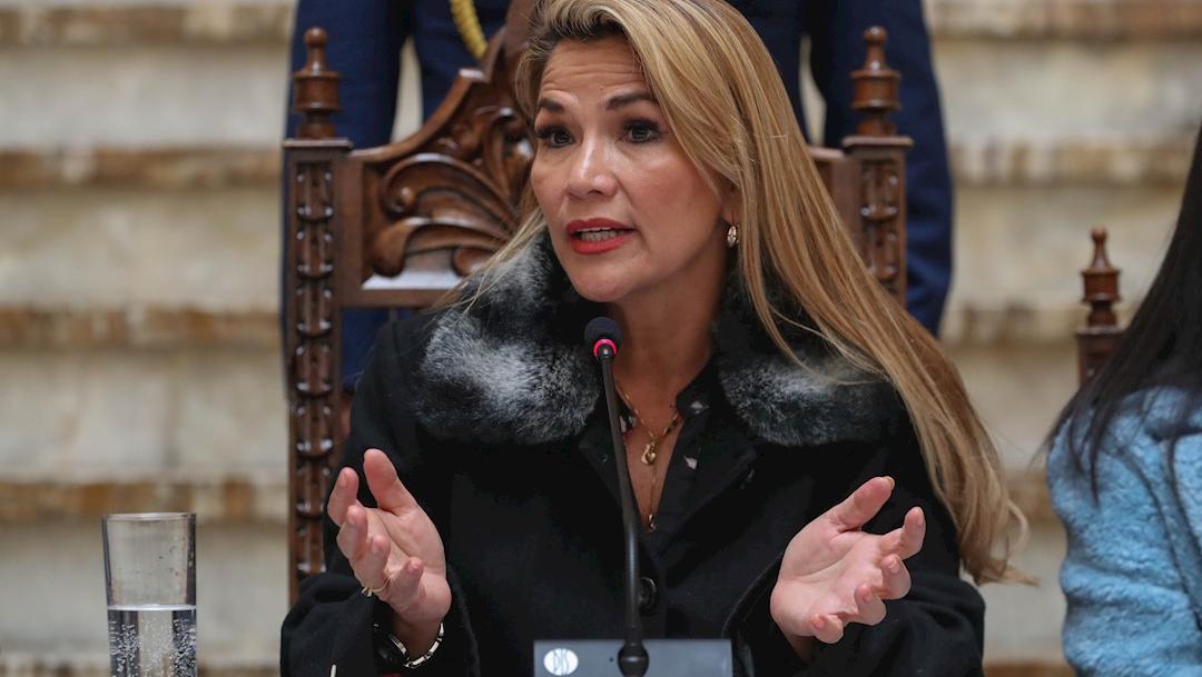 Foto: La presidenta interina Jeanine Áñez, 15 noviembre 2019
