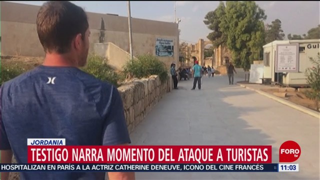 Joven vestido de negro atacaba a personas, dice testigo en Jordania