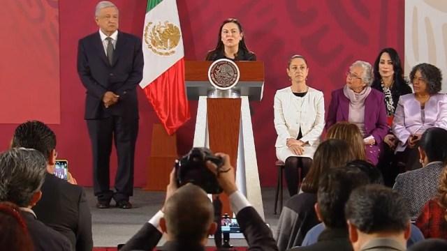 FOTO La panista Laura Rojas pide a AMLO trabajar juntos por las mujeres (YouTube)