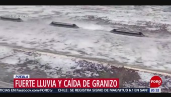 Foto: Lluvia Caída Granizo Puebla 4 Noviembre 2019