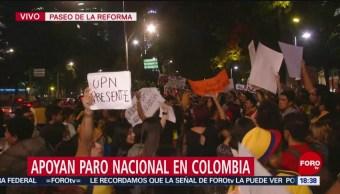 FOTO: Manifestaciones apoyo Colombia CDMX