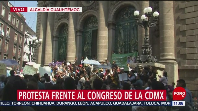 Foto: Manifestantes Protestan Frente Congreso CDMX