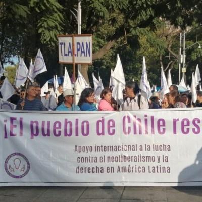 Realizan marcha por Reforma en apoyo a Chile