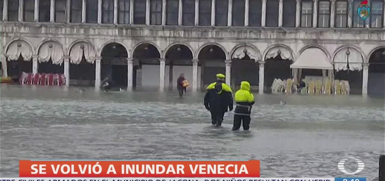 Marea sube casi 2 metros en Venecia, hay muertos