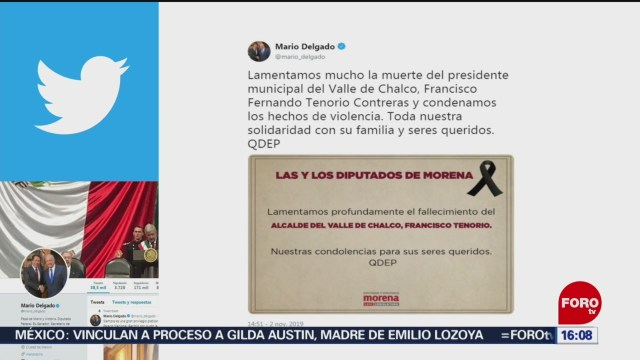 Foto: Mario Delgado Lamenta Muerte Alcalde Valle Chalco 3 de Noviembre