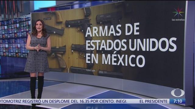 Más de 100 mil armas de EU, vinculadas a crímenes en México