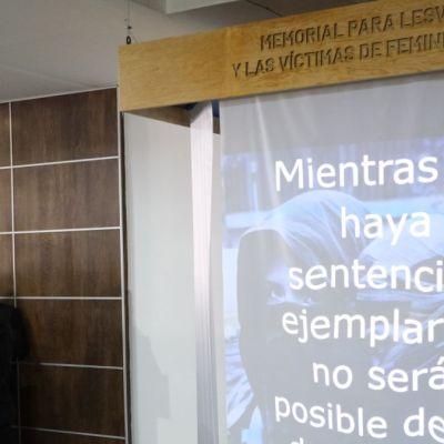 Inauguran memorial para Lesvy y otras víctimas de feminicidios en PGJ-CDMX