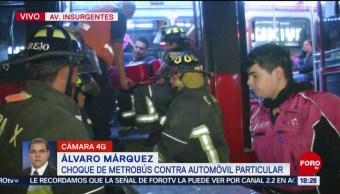 FOTO: Metrobús Choca Contra Automóvil Insurgentes